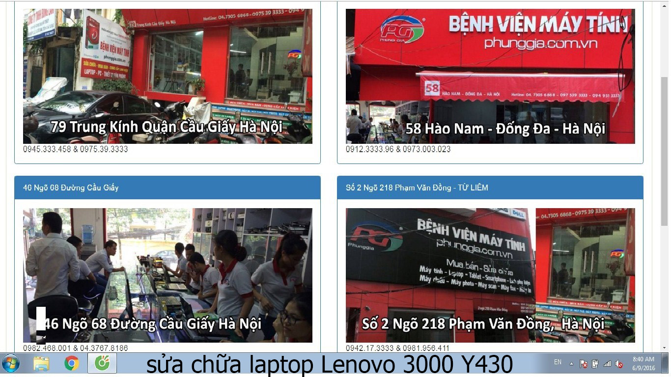 sửa chữa laptop Lenovo 3000 Y430