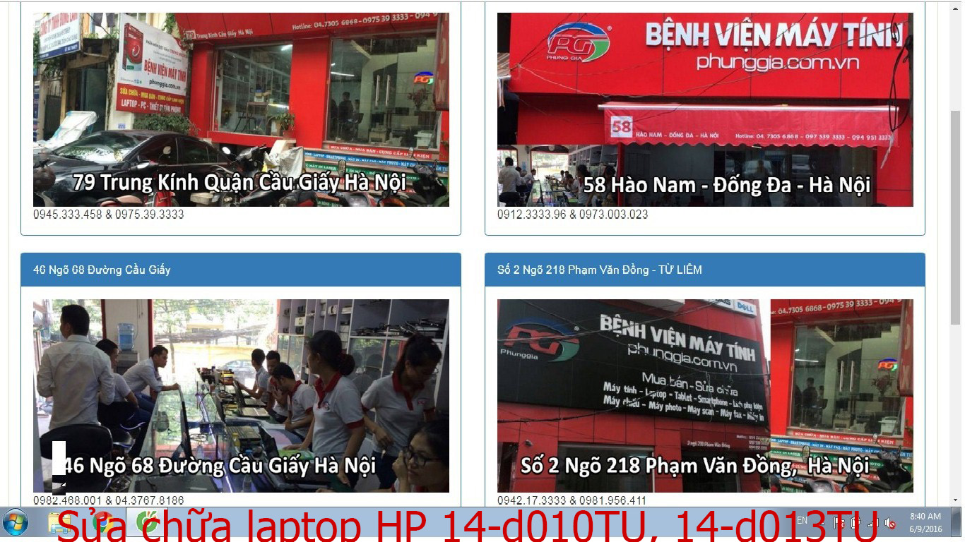 sửa chữa laptop HP 14-d010TU, 14-d013TU, 14-r006TU