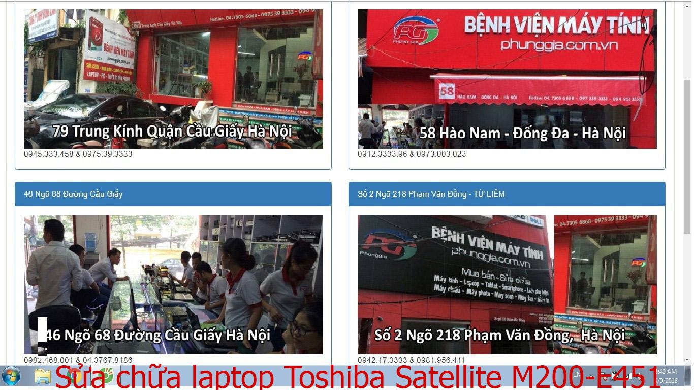sửa chữa laptop Toshiba Satellite M200-E451, M200-P430, M205, M215