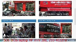 Chuyên sửa chữa laptop HP mini 200, 210-4022TU, 210-4028TU, 240 lỗi bị giật điện