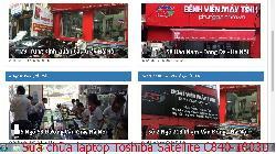 Chuyên sửa chữa laptop Toshiba Satellite C840-1003U, C840-1010, C840-1010R, C840-1010X lỗi bị xé hình