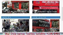 Dịch vụ sửa chữa laptop Toshiba Satellite M200-E451, M200-P430, M205, M215 lỗi nhòe hình